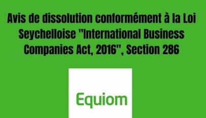 """International Business Companies Act, 2016"", Section 286:"