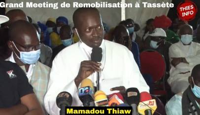 politique grand meeting de remob 406x233 - Politique: Grand Meeting de Remobilisation du Maire de Tassète Mamadou Thiaw